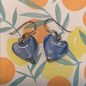 Jewelry - Dangly heart earrings ❤️